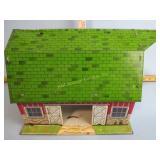 Tin litho toy barn