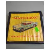 1967 Matchbox case w/ Matchbox & Hot Wheels cars