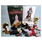 Stuffed animals - some TY, Santa