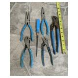 Assorted Tools  channel locks  & pliers