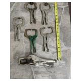 Vice grips Set of 6