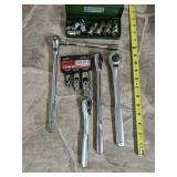 Assorted ratchet and sockets Craftsman SK tools