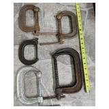 Set of 5C clamps