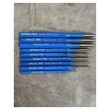 Set of dasco pro pin punches Set of nine