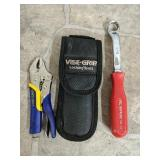 Mac 5/8 wrench and Vise Grip