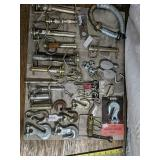 Asserted hitch pins, grab hooks, cotter pins and