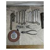 Assorted tools Pipe wrench Wrenches