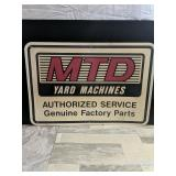 "MTD yard machines sign (plastic)  16""x24.5"""