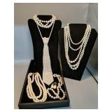 Lot of pearls Costume jewelry