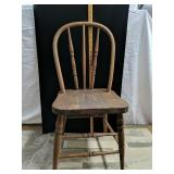 "Wooden Vintage  child chair 28"" Tall"