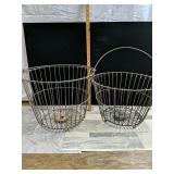 2- wire baskets with handles