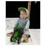 Porcelain Johnny John Deere collectible doll