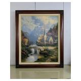 "Print Thomas kinkade The mountain chapel 48""x"