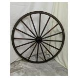 Antique wagon wheel Wood and Metal 39""