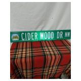 Walker road sign  Cider Wood Dr NW 3