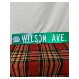 "Walker road sign Wilson Ave 30"" by 6"""