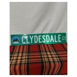 "Walker road sign Clydesdale CT 30"" by 6"""