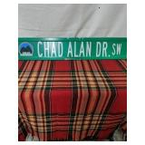 "Walker road sign Chad Alan Dr SW 30"" by 6"""