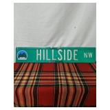"Walker road sign Hillside NW 30"" by 6"""
