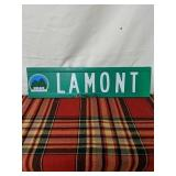 Walker road sign Lamont 2