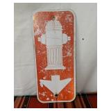 "Fire hydrant sign 18"" by 8"""