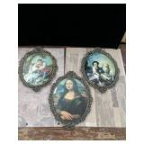"11""x16"" Curved Glass Pictures"