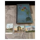 Vintage postcard album Postcards are from the