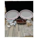 Lot of kitchenware 16x11 and 1/2-in platters