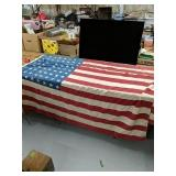 "67x43"" 2- 48 Star American flags No holes or"