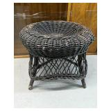 "Vintage wicker stool 16""tall 18""wide"
