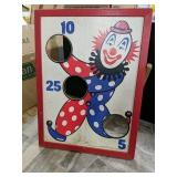 Vintage Bean bag board Clown American visual