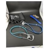 Blood pressure sleeve, stethoscopes