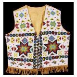 Lakota Sioux Fully Beaded Vest 1920-1940