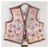 Oglala Sioux Quilled Buffalo Hide Vest c. 1890