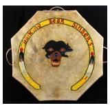 Flathead Native American Indian Large Pow-Wow Drum