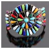 Zuni Sterling Silver Petit Point Bracelet