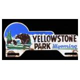 Yellowstone Park License Plate Topper