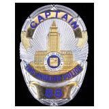 Los Angeles Police Captains LAPD Badge Dragnet