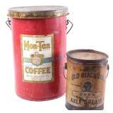 Old Black Joe Grease & Mon Tan Coffee Tins