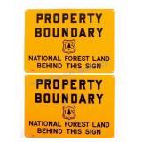 U.S. Forest Service Property Boundary Signs