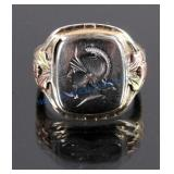 10K Black Hill Gold & Sterling Silver Ring