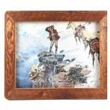 Ornately Framed C.M Russell Print