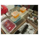 5- GLASS REFRIGERATOR DISHES