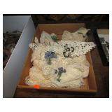 TRAY LOT OF VINTAGE LACE