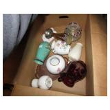 BOX LOT -- GLASS & MISC VASES