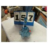 BLUE GLASS BELL -- FENTON