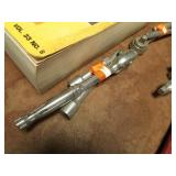 """3/8"""" SOCKET WRENCH & 2 EXTENSIONS"""