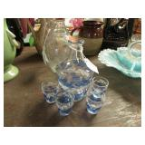 DECANTER W/ 4 GLASSES -- NO STOPPER