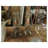 PAIR -- VINTAGE OIL LAMPS
