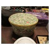 SEWING BASKET W/ MISC CONTENTS